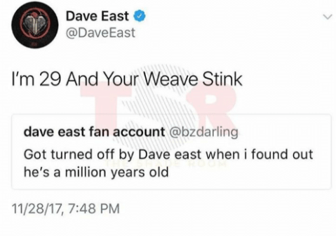 And when Dave East wasn't even taking his fan account's shit: