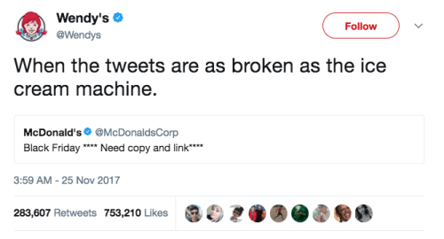 When Wendy's dragged the competition: