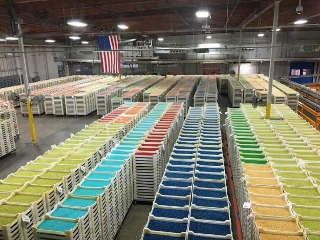 The inside of the Jelly Belly factory: