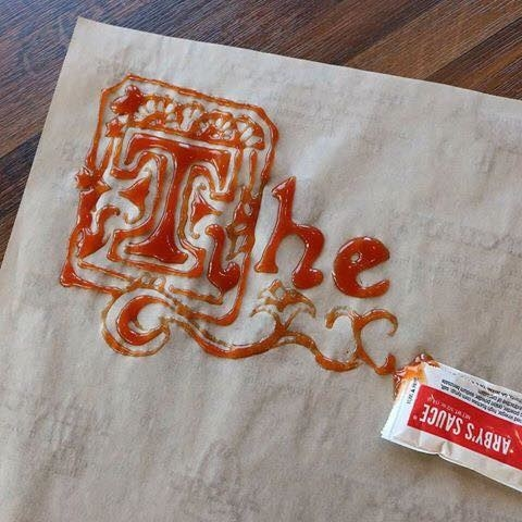 Wow, who knew somebody could make a masterpiece with Arby's sauce: