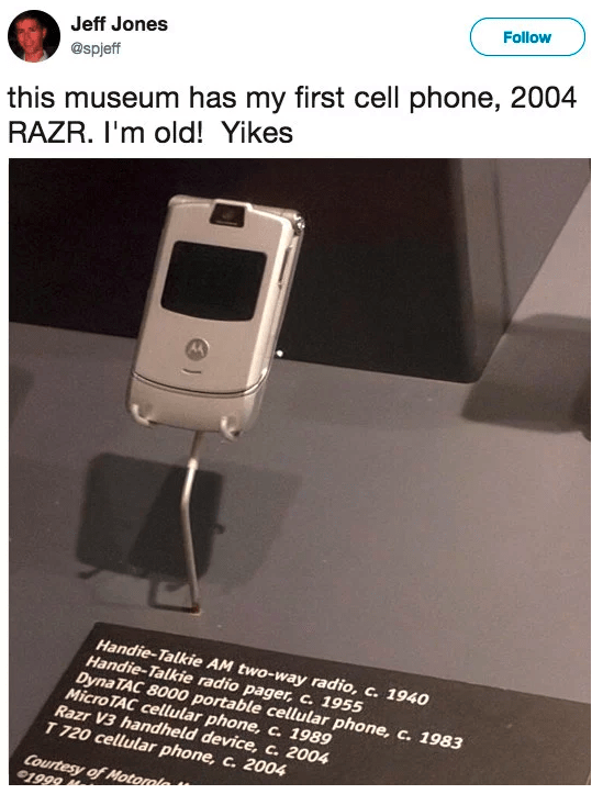 The Motorola Razr is in a MUSEUM:
