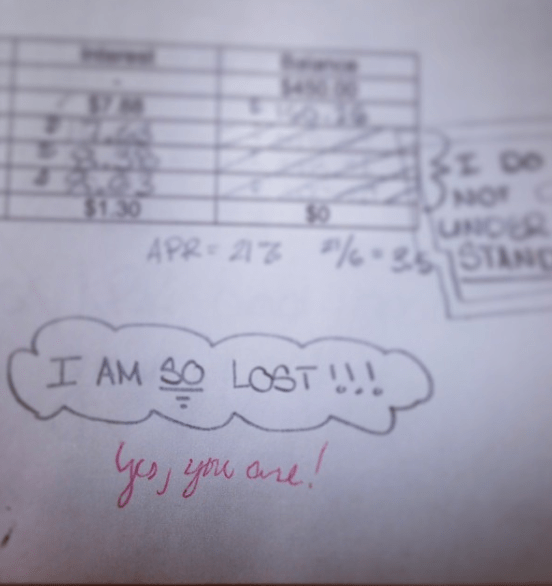 This student, who's so lost that even the professor knows: