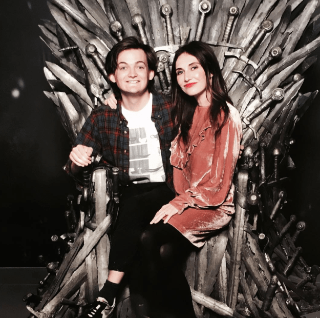 When Carice and Jack Gleeson (Joffrey) caught up on the Iron Throne.