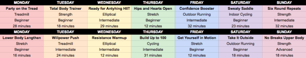 Goodful and Aaptiv have created a 14-day fitness plan, which you can access when you download the app. Here's a preview below of what's to come!