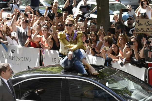 "When she sat on top of her car and was just like, ""Look at me, je suis Celine Dion!"""