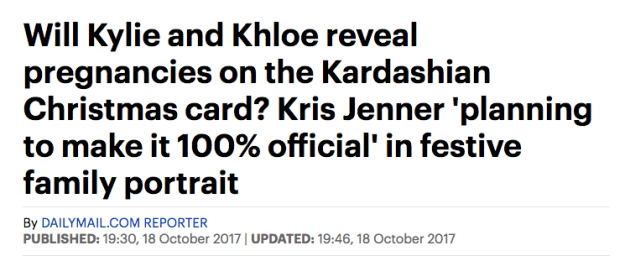This theory was first floated months ago, but only gained credence this week when it became clear that rather than unveiling the card in its entirety, the family will actually be offering snippets of it each day.