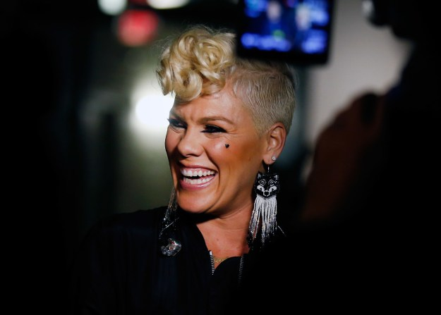 "And her message of female empowerment didn't stop there. Pink also revealed that her hopes for womankind are ""Equality, safety and respect."""