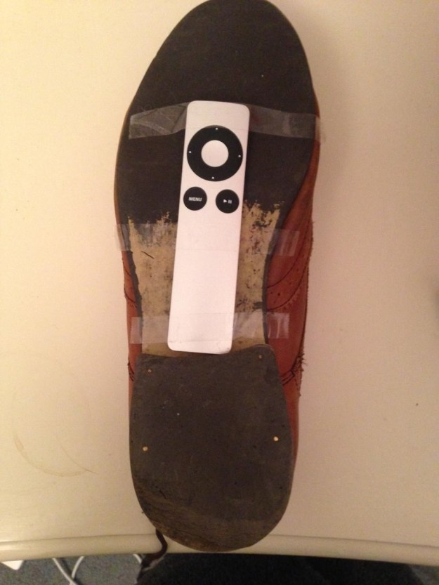 The bottom of some grody shoe: