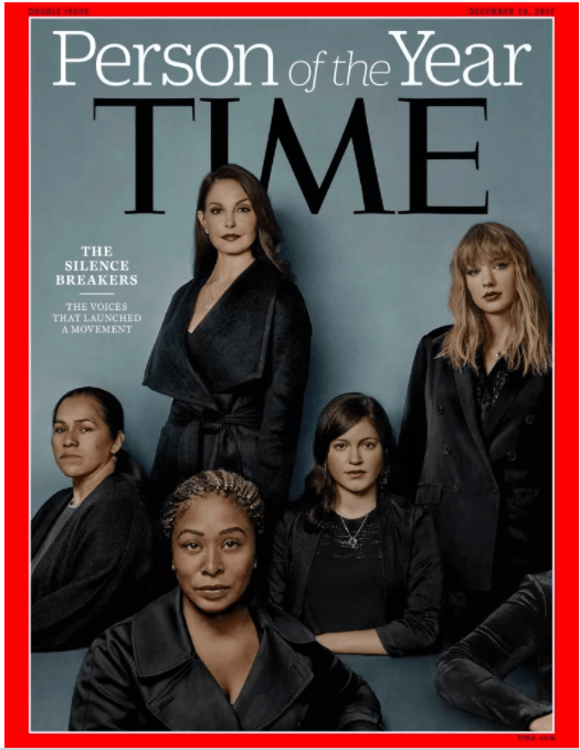 "Yesterday, Time magazine named its Person of the Year as the ""Silence Breakers"" – a group of women and men who sparked the worldwide conversation about sexual harassment and assault."
