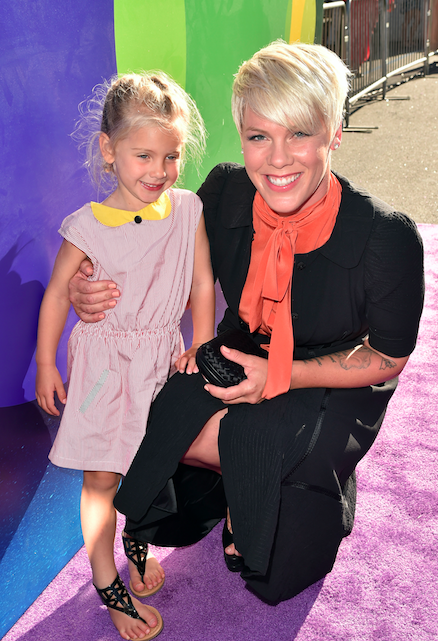 "Pink said that at an MTV award show, the comedian said, ""Put some panties on — you're a mum now."""