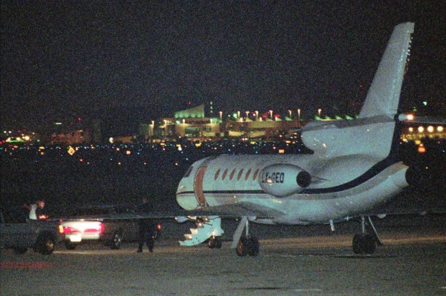 A private plane carrying Donatella and Santo Versace, brother and sister of Gianni Versace, arrived at the Miami International Airport early in the morning on July 16.