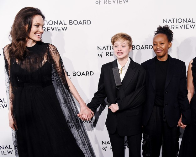 Angelina Jolie brought Shiloh and Zahara Jolie-Pitt out to an event.