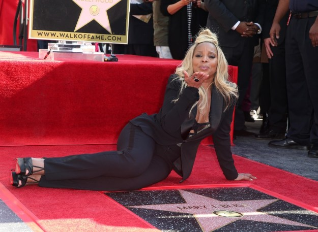 Mary J. Blige received a star on the Hollywood Walk of Fame.