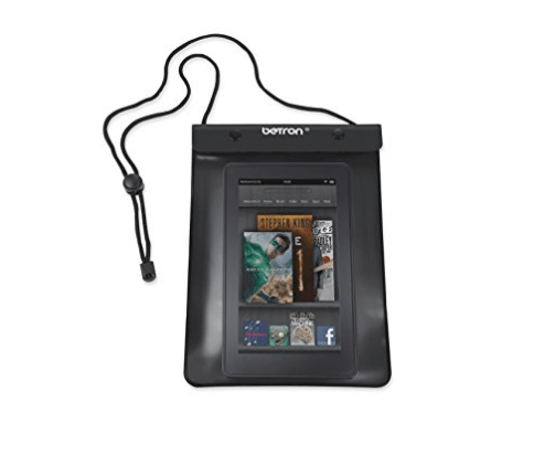 And this waterproof case that will let you read your Kindle in all conditions.