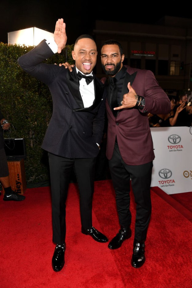 Terrence J (L) and Omari Hardwick