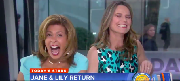 And Hoda and Savannah were dying again: