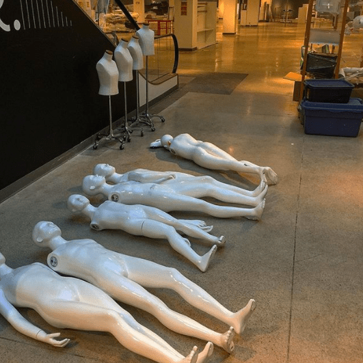 Whoever left these mannequins in the middle of the mall: