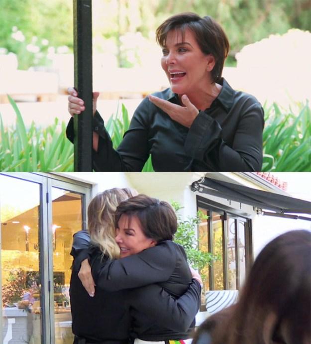 Kris Jenner immediately burst into tears, and gave Khloé the biggest hug.