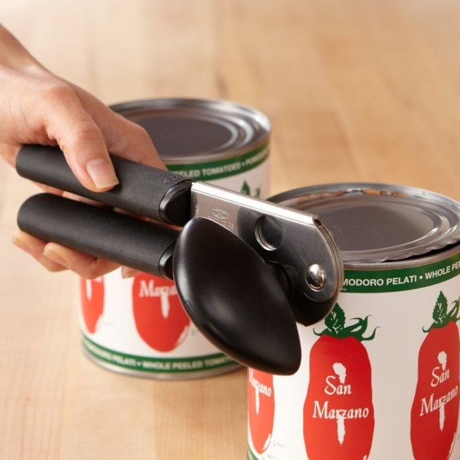 This can opener has a magnet that lifts the lids off and ensures that cut lids don't fall into the cans! —Kylie S.Get it from Jet for $13.99 or from Walmart for $16.01.