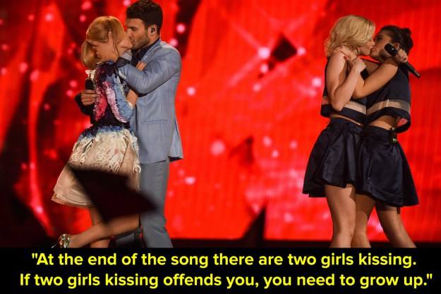 And when he made this comment to viewers who might get offended when Lithuania performed in 2015.