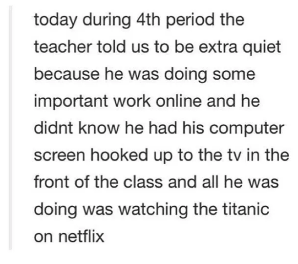 Teachers just trying their hardest: