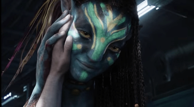 In Avatar, the Na'vi are supposed to be 10 feet tall, but at the end of the movie Jake's hand fits perfectly when cupping Neytiri's face, which should be disproportionately much larger.