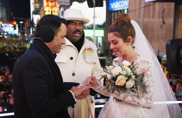 Maria Menounos got married in Times Square on New Year's Eve.