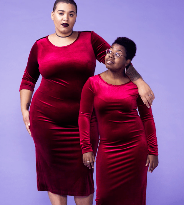 Next up, Jazz and Briana said yes to the dress with a form-fitting, red-hot number that felt fun and was something Briana said she wouldn't typically wear.