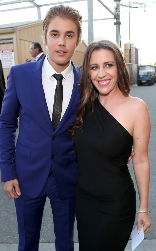 This is Justin Bieber and his mom, Pattie Mallette.