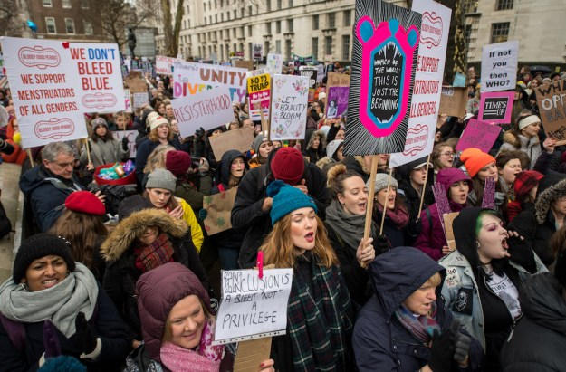 This weekend, hundreds of thousands of men and women all across the globe marched in protest in the second annual Women's March.