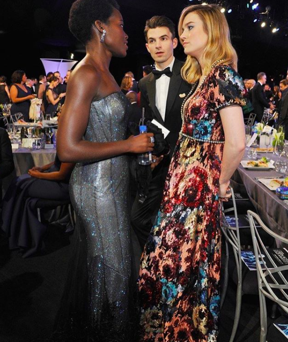 Brie Larson had a deep and meaningful with Lupita Nyong'o during the ceremony.