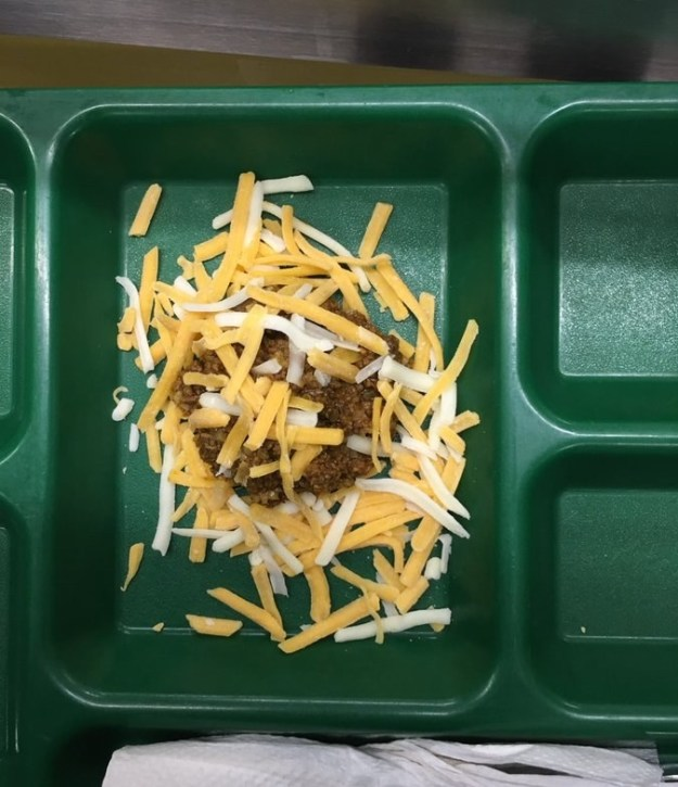 When a school dished up this taco salad with a straight face.