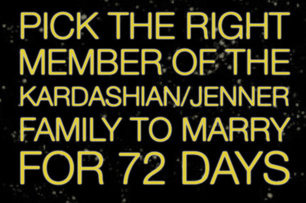 Can You Pick The Right Kardashian To Marry For Publicity?