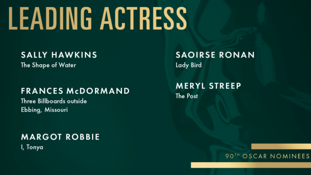 Margot just received an Oscar nomination for Leading Actress in a Motion Picture for her role as Tonya Harding in I, Tonya. YAY MARGOT!!!