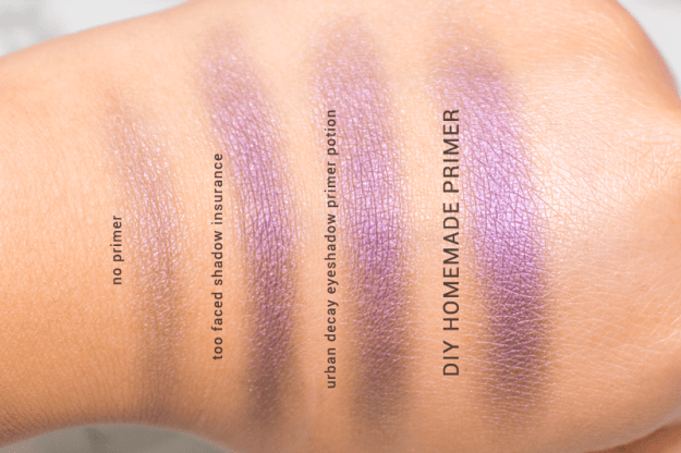A little bit of eyeshadow primer can go a long way.
