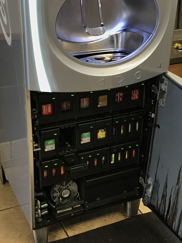 And finally, this is the inside of those new Coke machines: