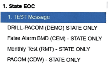 A close facsimile of the screen seen on Jan. 13 by the employee who sent the false alert.