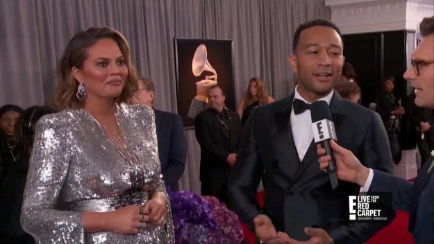 John Legend talked about getting a Japanese toilet that washes your butt and Chrissy Teigen reacted with this face: