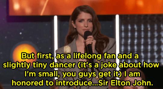 "Anna Kendrick's ""Tiny Dancer"" joke fell flat:"