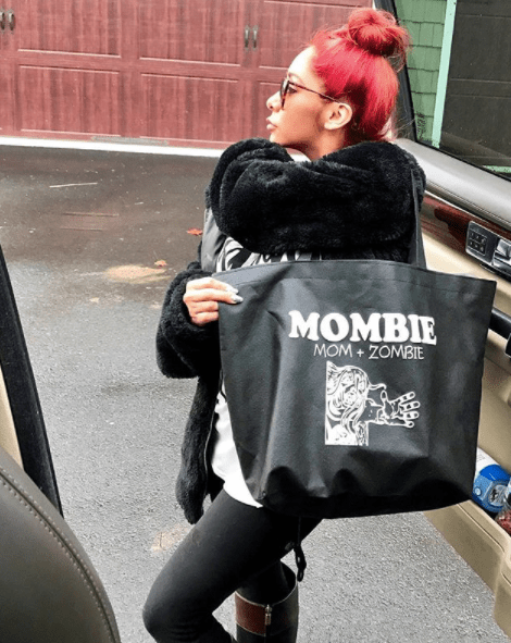 Now: This is a bag she designed lol.