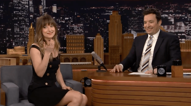 Well, the Fifty Shades Freed star recently stopped by The Tonight Show starring Jimmy Fallon, to let fans know what REALLY went down that night.