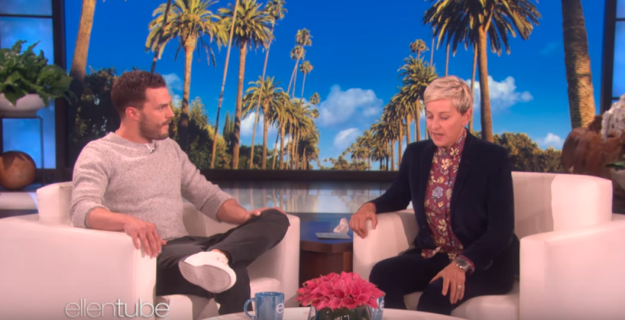 With two movies already out, we're only a couple of weeks away from the final instalment, Fifty Shades Freed, so Jamie stopped by The Ellen Show to have a quick chat.