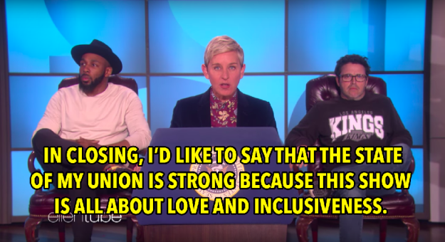 And in the end, Ellen brought it all back to the reason we all love her so much.