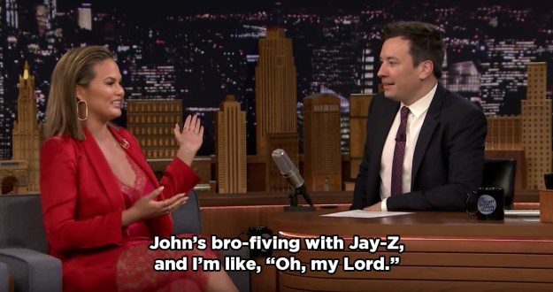 Of course, while Chrissy was being weird in front of Beyoncé, John was being totally cool about the whole thing.
