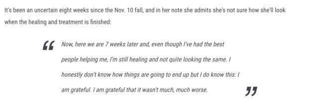 This was part of a year-end letter to her fan club, according to Taste of Country.