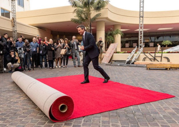 Seth Meyers rolled out the red carpet for Sunday's Golden Globes.
