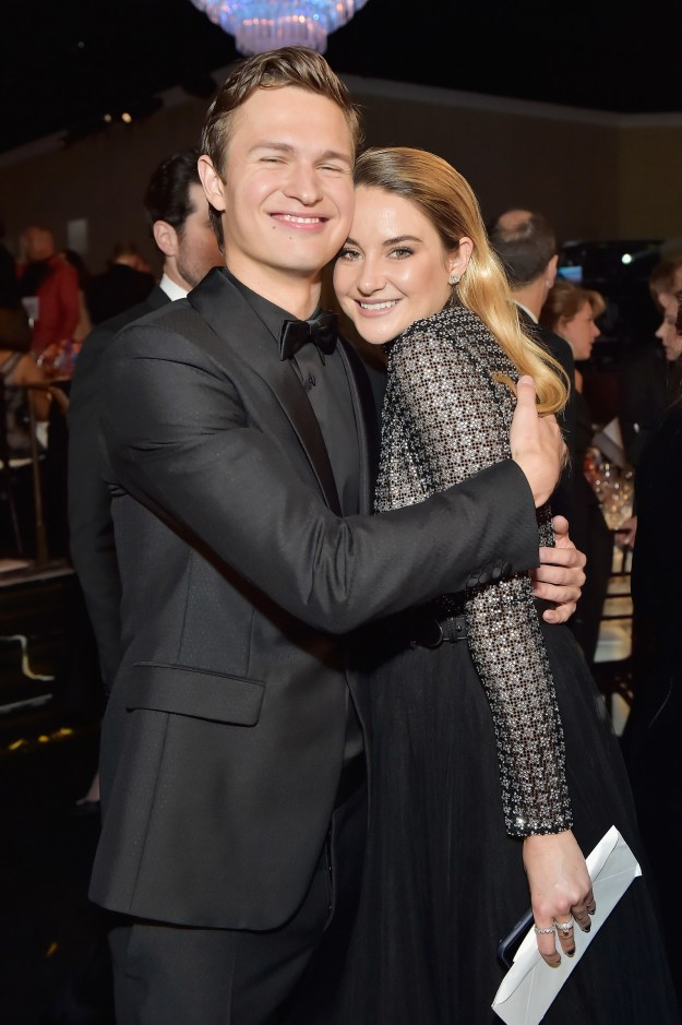 Well, stars Shailene Woodley and Ansel Elgort are both at the Golden Globes tonight and they took this perfect photo together: