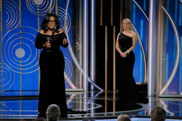 Oprah talked at length about the long culture of silence and disbelief of women.