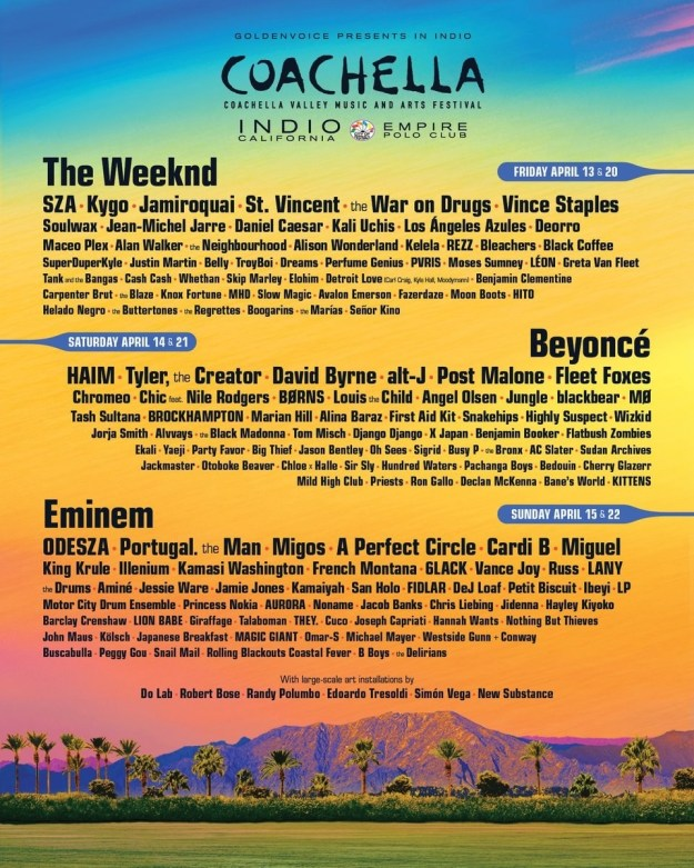 Every year at around this time of year, a bunch of music festivals, like Coachella, start to announce their lineups.