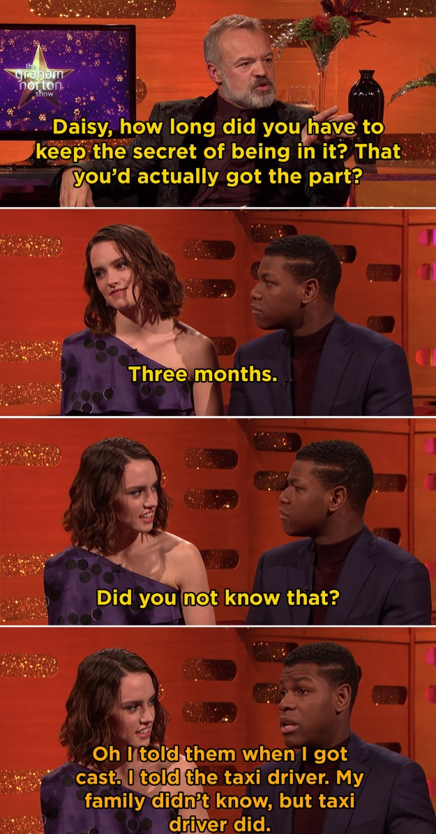 When he was so excited about being cast in Star Wars that he had to tell someone: